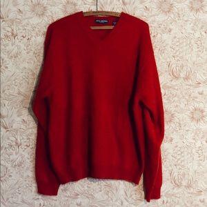 John Ashford red cashmere sweater Large.